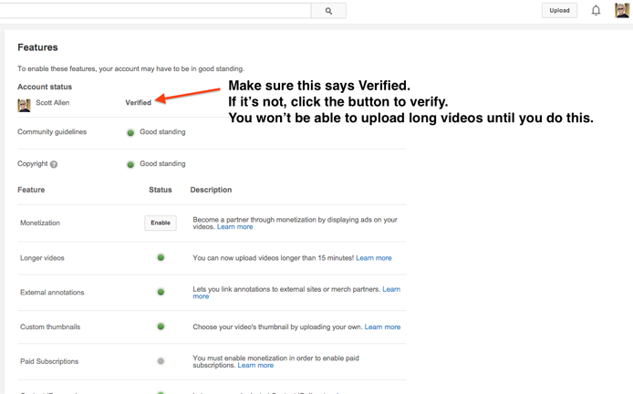 Step 5: How to upload long videos to Youtube