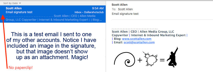 How to Add an Image to Your Email Signature Without it Appearing